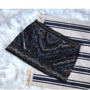 All Saints hand-beaded skirt sequin mini skirt